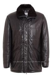 Кожаная куртка на меху Meucci