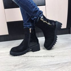 ботинки зима вставка питон