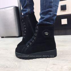 ботинки зимние корона