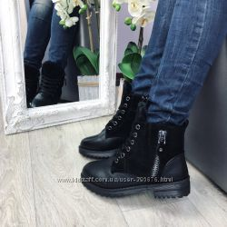 ботинки зима комби