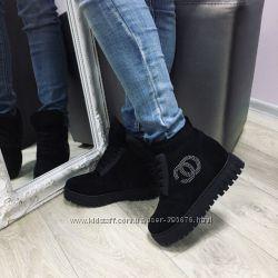 ботинки зима шнурки
