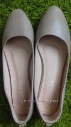Нюдовые балетки 37 размер