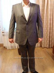 Брендовый шерстяной класический костюм мужской 56-58р