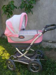 Рожево - сірий   дитячий візочок  Geoby 05Baby C706 2в1
