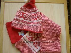 Комплект Sela шапка  шарф на голову 50-52см