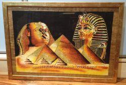 Папирус из Египта 37х54, 5 см под стеклом в рамке