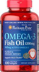 Омега-3 Puritan&acutes Pride США