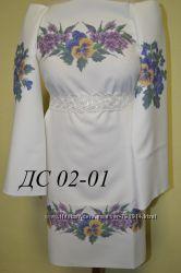 Заготовки для вышивки сорочек и платья девочкам бисером или нитками СКИДКА