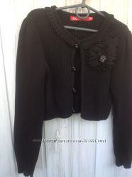 Модная укороченная кофточка- болеро на девочку с ростом от 125 до 145 см