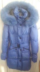 Красивое пуховое пальто фирмы Geldeen Fox 38р с шикарным песцом