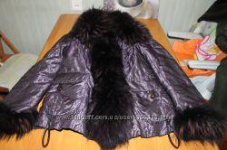 Шикарная женская куртка зимняя с чернобуркой  р. М