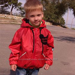 Ветровка для мальчиков и девочек унисекс со светоотражающим ефектом 98-128