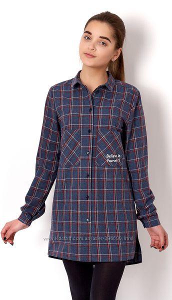 Рубашка- туника фирмы Mevis. Рост 146-164 см.