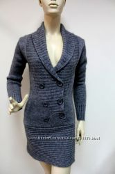 Платье-туника вязанное теплое