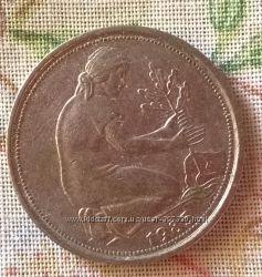 Монета 50 пфеннингов 1985 года, Германия