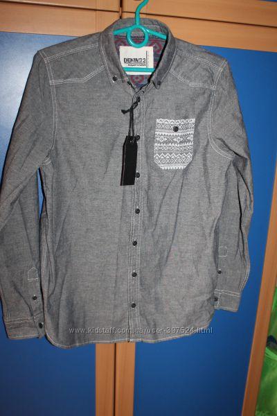 Новая рубашка мальчику на 12-14лет MATALAN Denim73 Англия