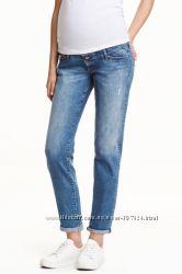 Модные джинсы для будущих мам H&M Швеция   EUR42 MAMA Girlfriend Jeans