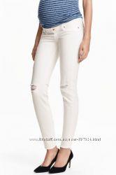 Модные джинсы для будущих мам   H&M   Швеция    MAMA Skinny High Rib Jea