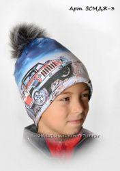 Зимняя шапка 3D рисунок