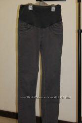 Серые джинсовые брюки для беременных