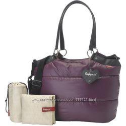 Сумка дизайнерская для мам Babymel Camden Carry All Diaper Bag, Aubergine