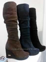 Сапоги, ботинки зимние. Кожа, замша