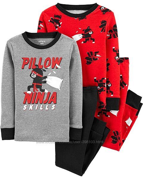 Carters, наборы из 2х пижам до 10лет, длинный и короткий рукав