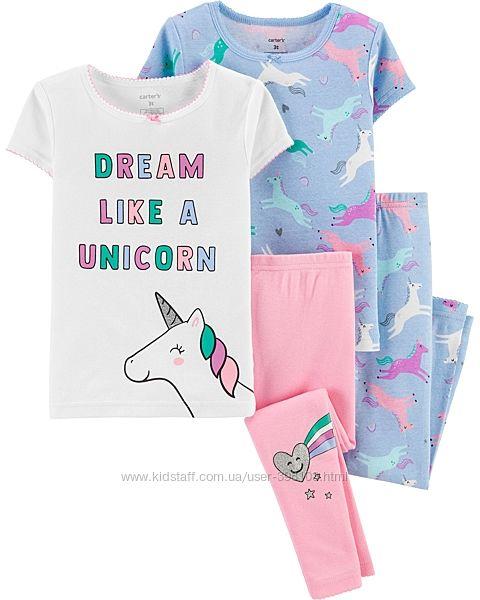 Пижамы CARTERS, наборы и поштучно. Размеры до 7лет