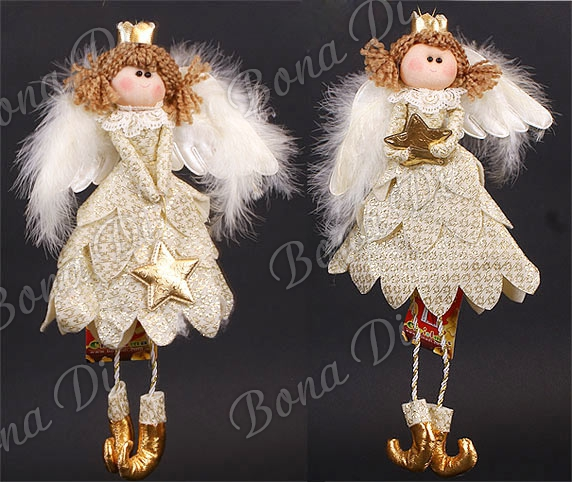 Мягкая игрушка на елку - ангелы, феечки