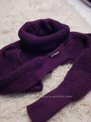 Аксессуар шарф-трансформер или шарф-рукава.