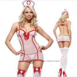 Костюм медсестры боди полупрозрачное