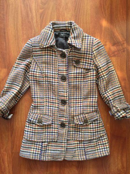 Пальто Zara пиджак Зара оригинал клетка шерсть весна осень