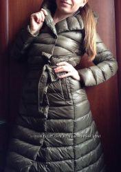 Пуховий плащ пальто