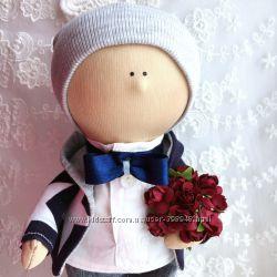 Ітерєрна іграшка малюк хлопчик джентельмен