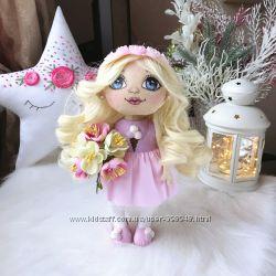 Авторская текстильная кукла Виолетта