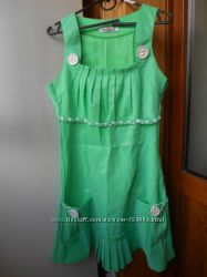 Платье-сарафан зелёное разм. S