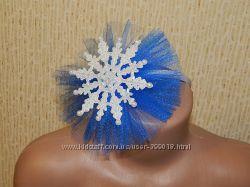 Новогодние повязки, обручи , ободки со снежинками, короны