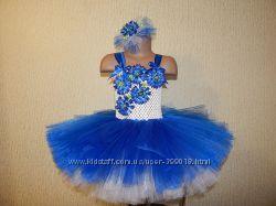 Цветочное платье василек на заказ.