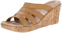 Кожаные сандалии-шлепки crocs р. w11-28см. Оригинал