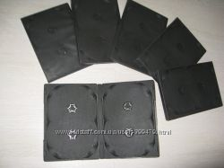 Футляр бокс для DVD и CD дисков 14 мм на четыре диска