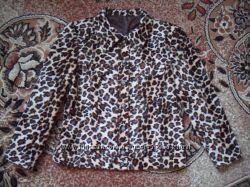 Леопардовая курточка весна-осень р 46.