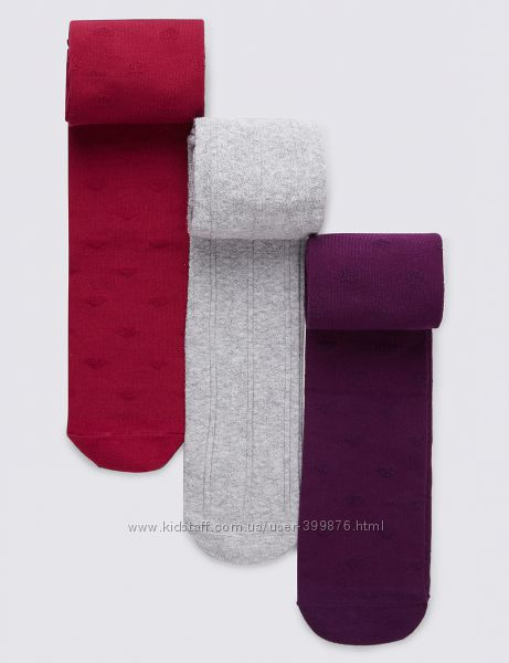 3 пары колгот Marks & Spencer р. 9-10