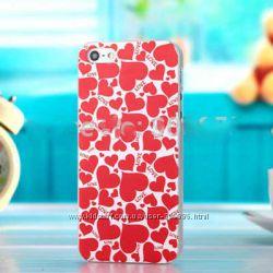 Чехол для  IPhone 4 4S в сердечки love в наличии