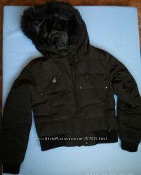 Черная курточка пуховик Zara