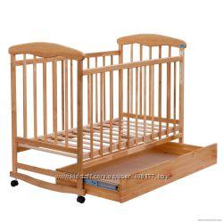 Кроватка новая тм Наталка ясень