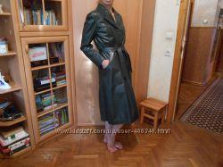 Корейское кожанное пальто Оригинал