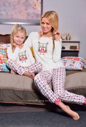 Пижамка для девочек с совой.