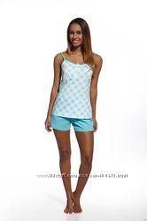 Стильная летняя пижама для девушек фирмы Cornette. Польша