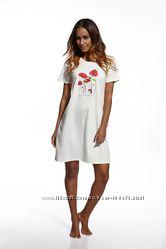 Стильная ночная рубашка для женщин из 100 хлопка фирмы Cornette. Польша.