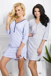 Ночная рубашка для женщин из 100 хлопка Таро. Польша Осенне-зимняя коллек